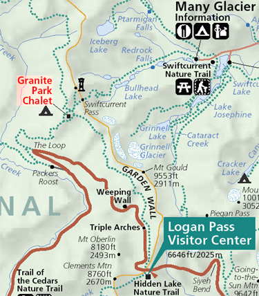 Granite Park area trails map